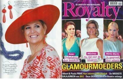 Prinses Maxima met oorbellen Bloemenpracht in Royalty