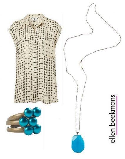 Blue jade & pearls