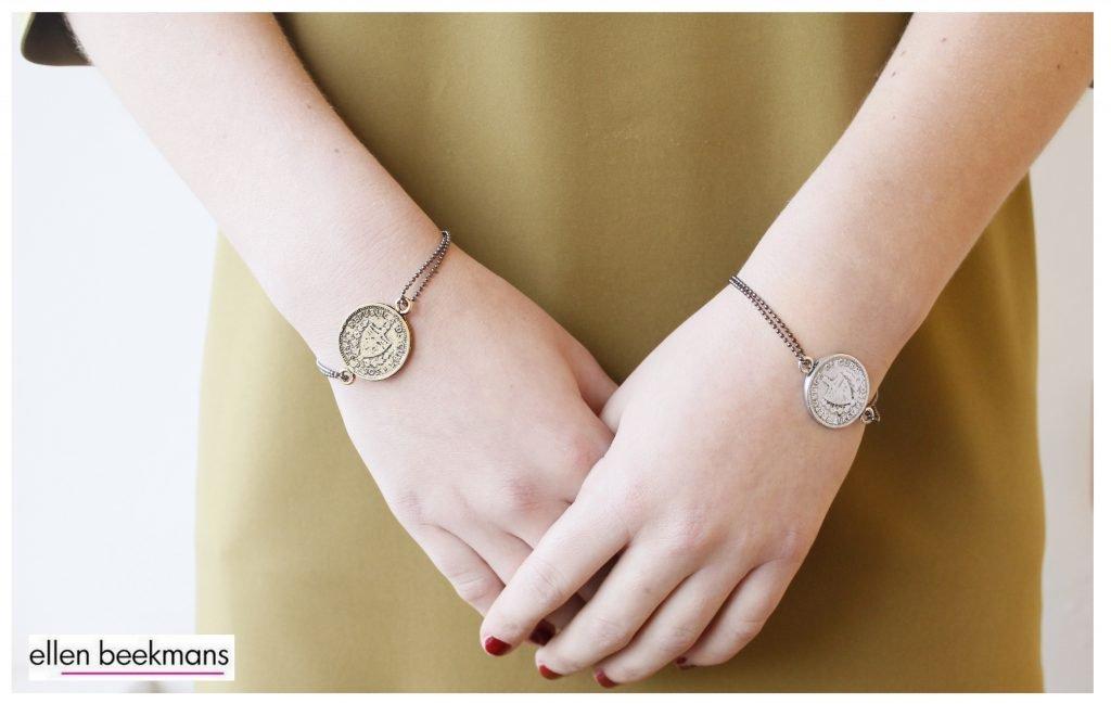 Armband met vintage munt