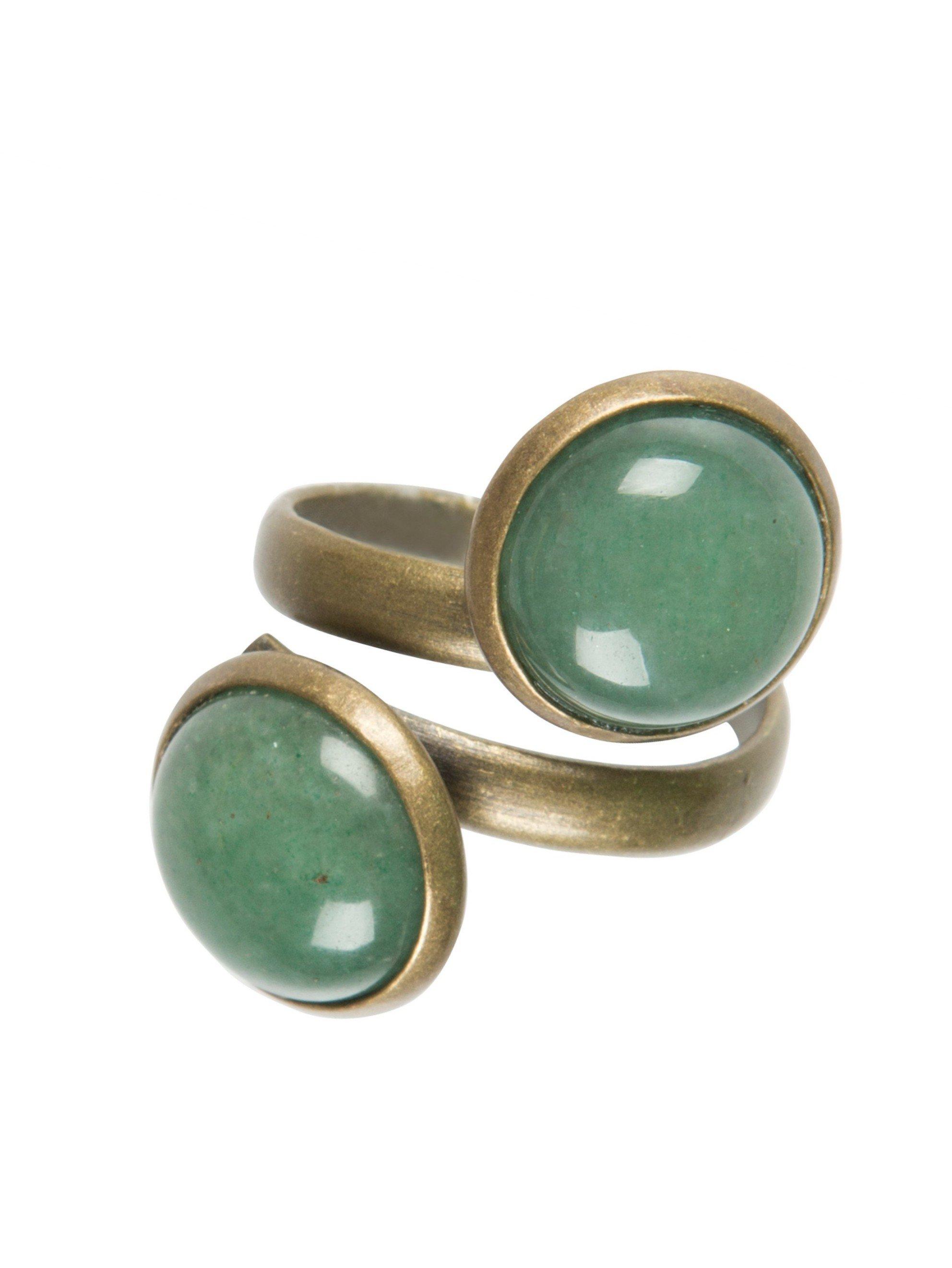 Fabulous Dubbele ring / groen - Ellen Beekmans &AN34